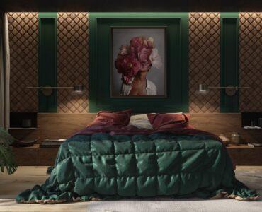 green-walls-bedroom